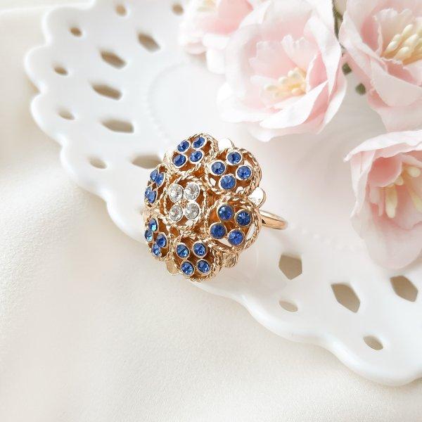 Винтажное кольцо «Берлинская лазурь» от Sarah Coventry редкие антикварные украшения