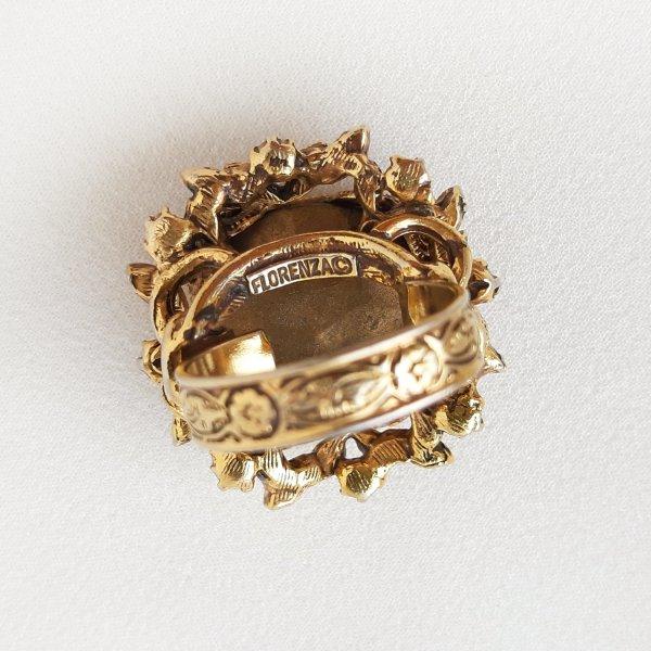 Винтажное коктейльное кольцо «Каприз» от Florenza Купить бижутерию