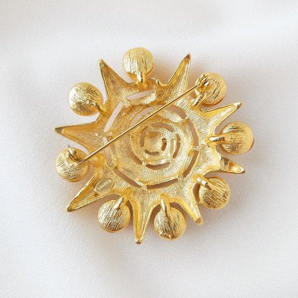 Винтажная брошь «Жемчужное солнце» от Craft редкие антикварные украшения