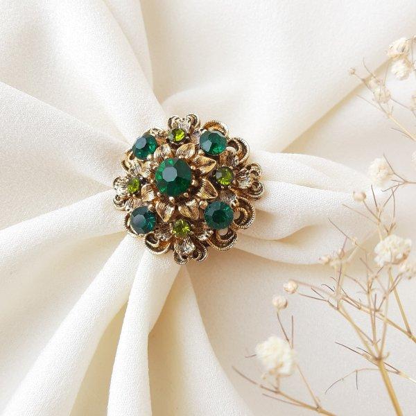 Винтажное коктейльное кольцо «Изумруд» от Art для самых оригинальных и стильных