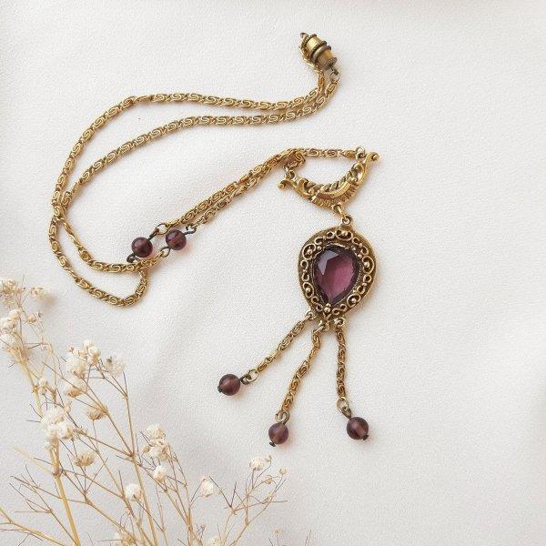 Винтажное колье «Фиолетовый закат» от Goldette для любителей старины и антиквариата