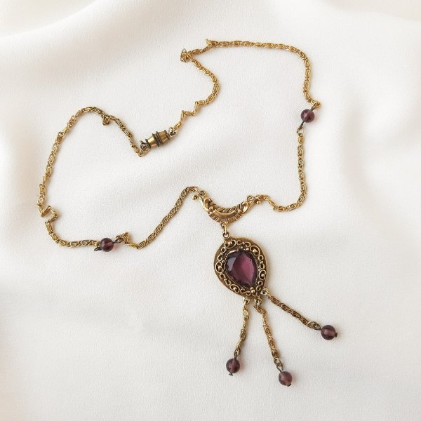 Винтажное колье «Фиолетовый закат» от Goldette оригинальный и эксклюзивный подарок девушке