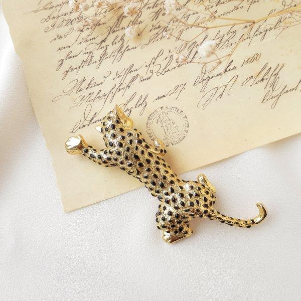 Винтажная брошь «Леопард» для самых оригинальных и стильных