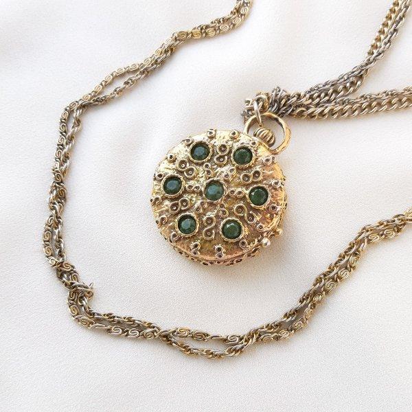 Винтажный роуп с медальоном от Goldette Купить