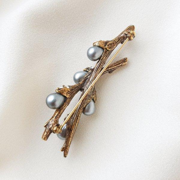 Коллекционная дизайнерская брошь «Верба» от Joan Rivers редкие антикварные украшения