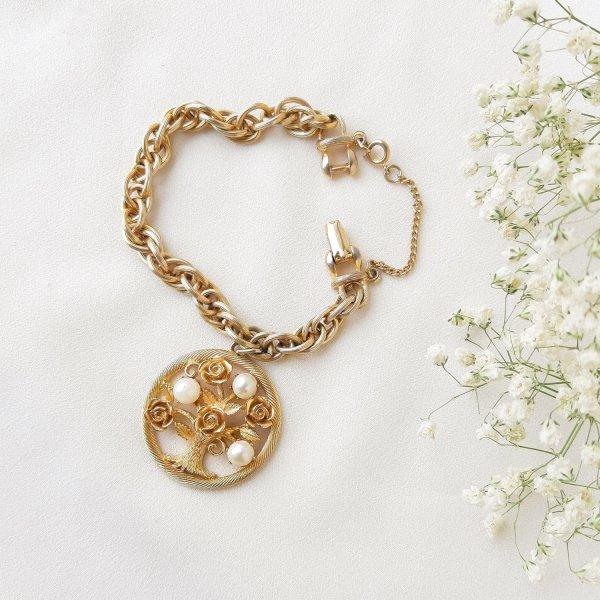 Винтажный браслет с чармом «Древо жизни» от Lisner Купить бижутерию