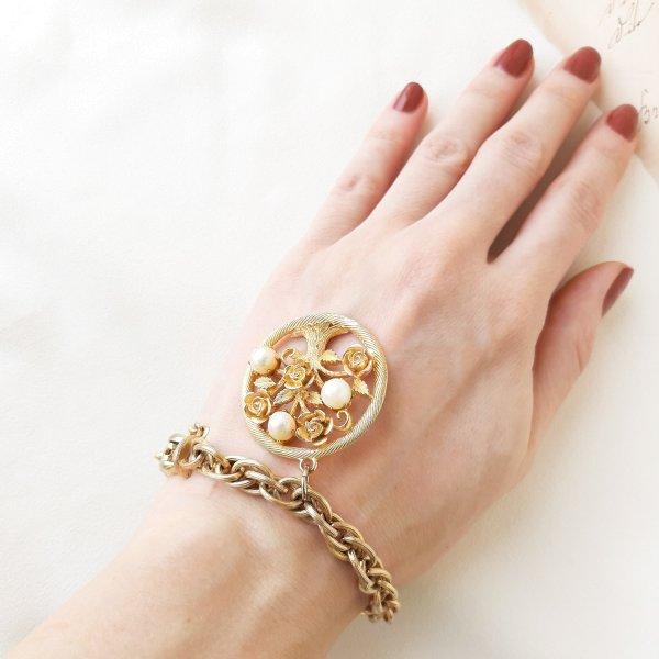 Винтажный браслет с чармом «Древо жизни» от Lisner Купить винтаж