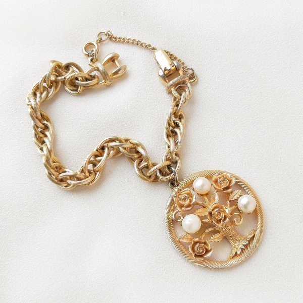 Винтажный браслет с чармом «Древо жизни» от Lisner Купить