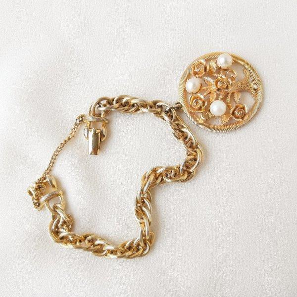 Винтажный браслет с чармом «Древо жизни» от Lisner Старинные украшения