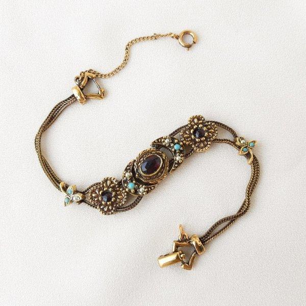 Винтажный браслет - слайдер от Goldette для любителей старины и антиквариата