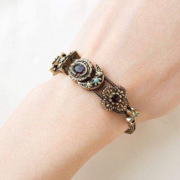 Винтажный браслет - слайдер от Goldette оригинальный и эксклюзивный подарок девушке