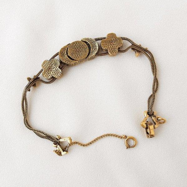 Винтажный браслет - слайдер от Goldette редкие антикварные украшения