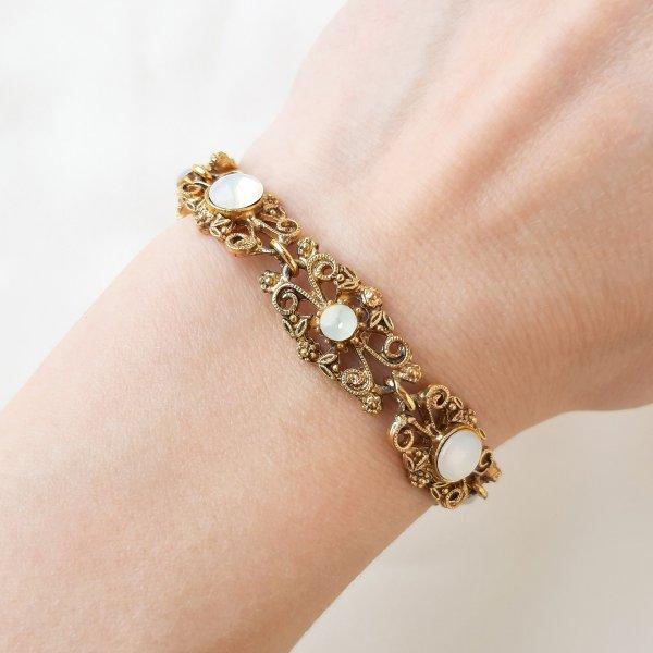 Винтажный браслет «Лунный свет» от Goldette Старинные украшения