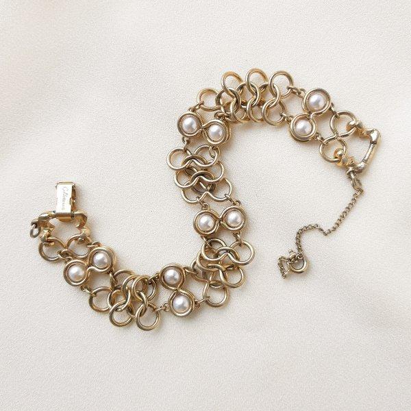 Винтажный браслет «Жемчуг и золото» от Goldette для любителей старины и антиквариата
