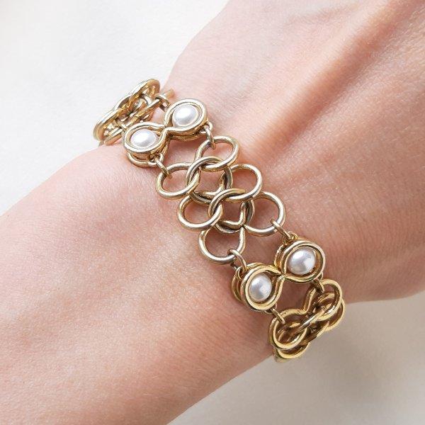 Винтажный браслет «Жемчуг и золото» от Goldette это настоящая бижутерия класса люкс
