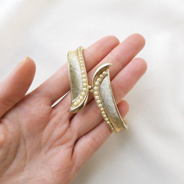 Винтажный браслет - клампер от Art Старинные украшения