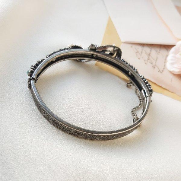 Винтажный браслет - клампер «Ваше Величество» от Florenza Купить антиквариат