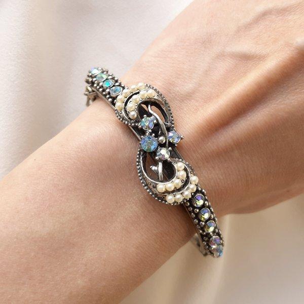 Винтажный браслет - клампер «Ваше Величество» от Florenza Купить бижутерию