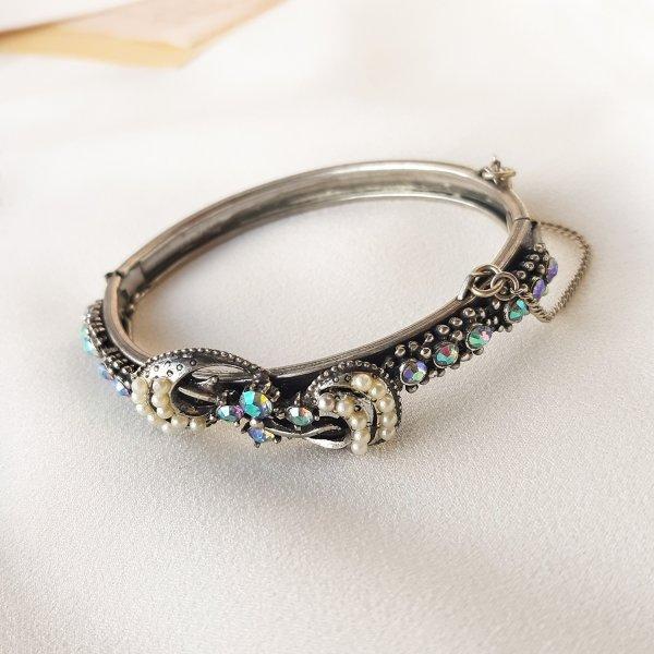 Винтажный браслет - клампер «Ваше Величество» от Florenza Купить винтаж