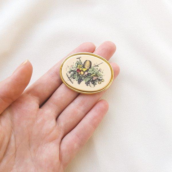 Винтажная брошь «Любимый сад» от Barlow Старинные украшения