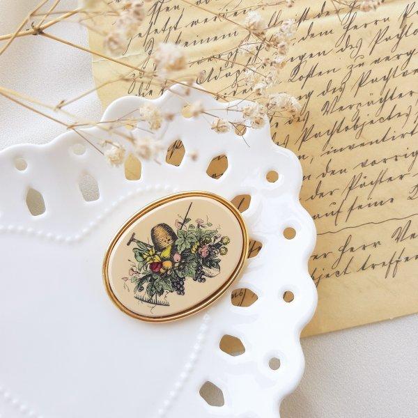 Винтажная брошь «Любимый сад» от Barlow Купить