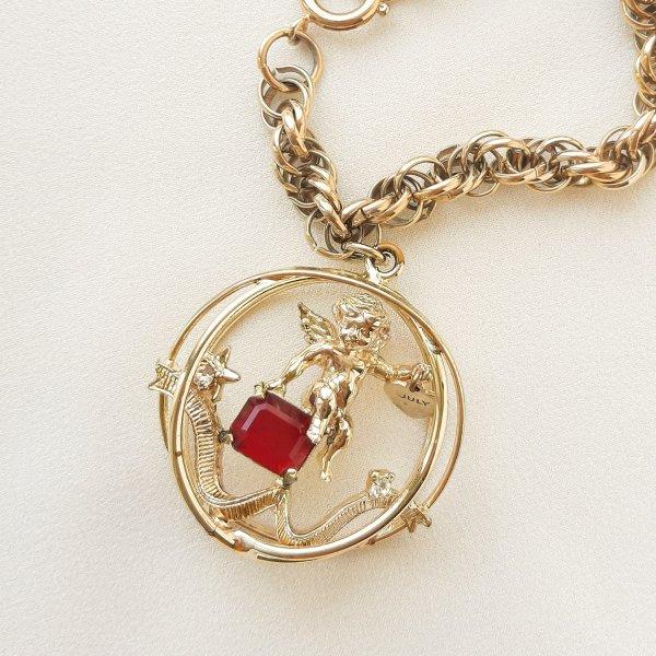 Винтажный чарм - браслет с ангелом «Июль» от Coro Купить