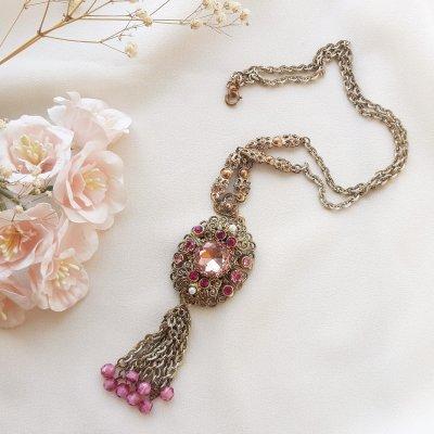 Винтажный кулон «Королевский розовый» от West Germany