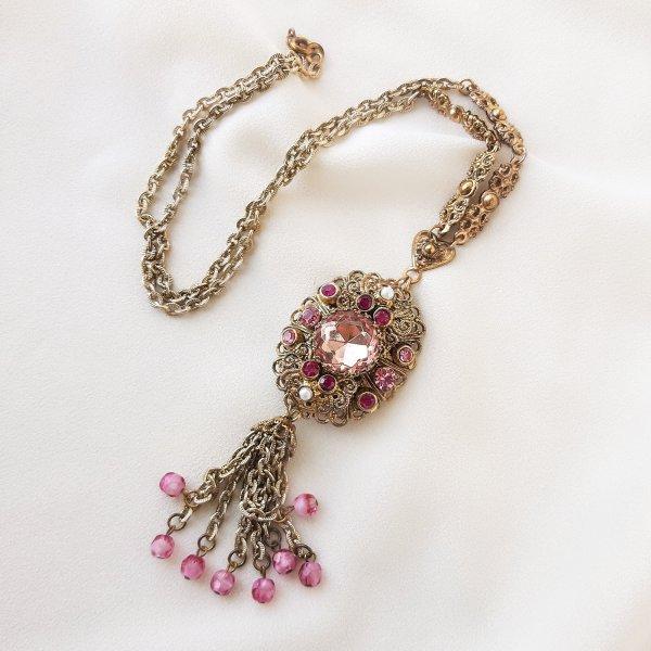 Винтажный кулон «Королевский розовый» от West Germany Купить винтаж