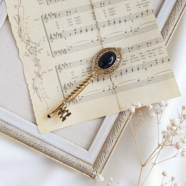 Винтажная брошь «Золотой ключ» от 1928 Jewelry Купить антиквариат