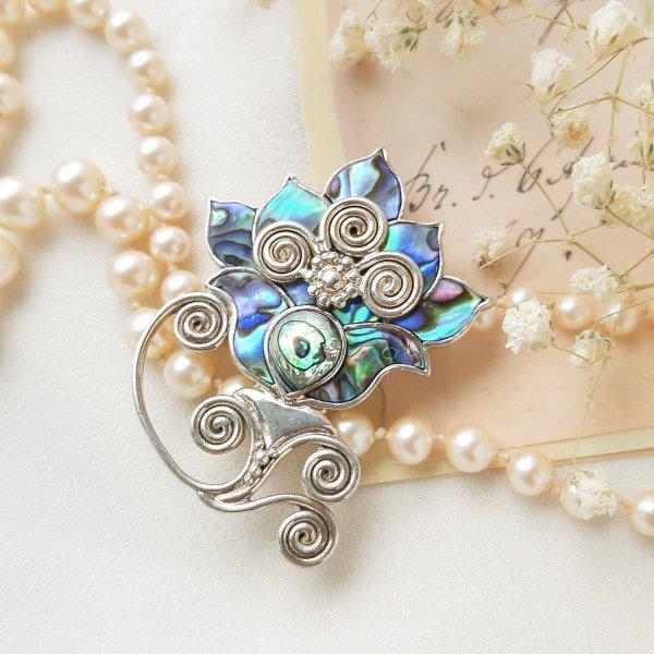 Винтажная брошь - кулон «Волшебный цветок» от Sajen Купить