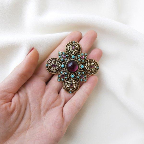Винтажная брошь «Мальтийский крест» от Art Купить винтаж