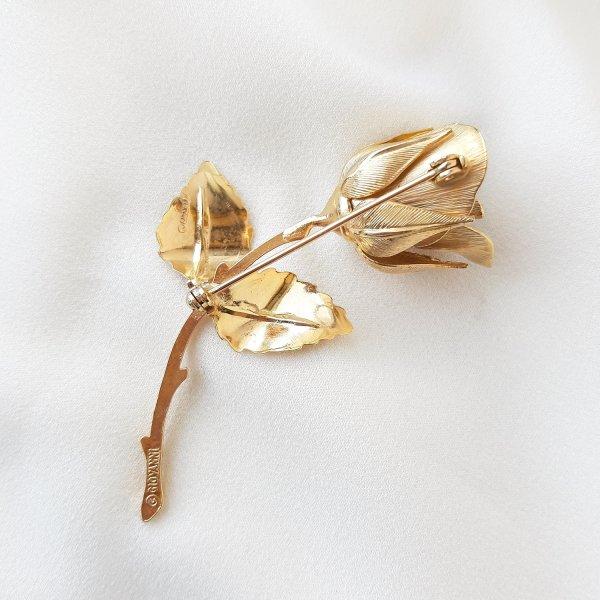 Винтажная брошь «Роза Христа» от Giovanni Купить бижутерию