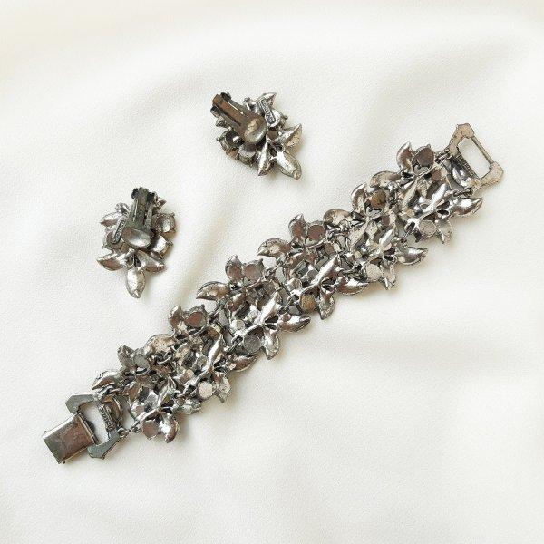 Винтажный браслет и клипсы «Северное сияние» от Florenza Купить бижутерию