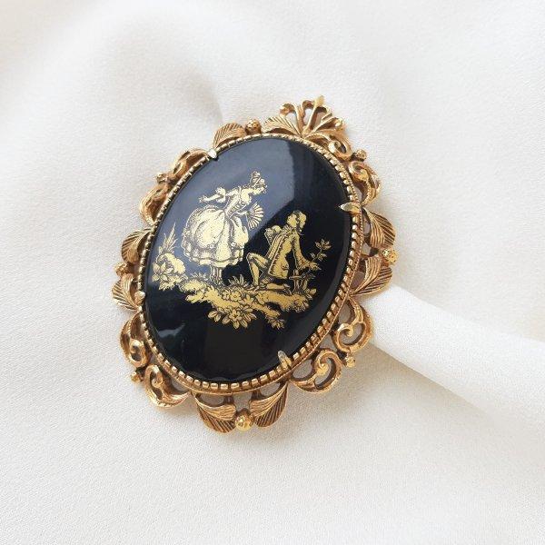 Винтажная брошь «Рококо» от Florenza Купить