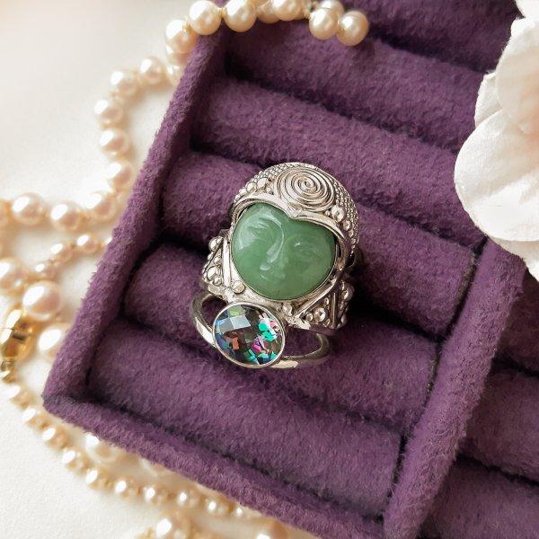 Серебряный перстень «Богиня природы» от Sajen Купить