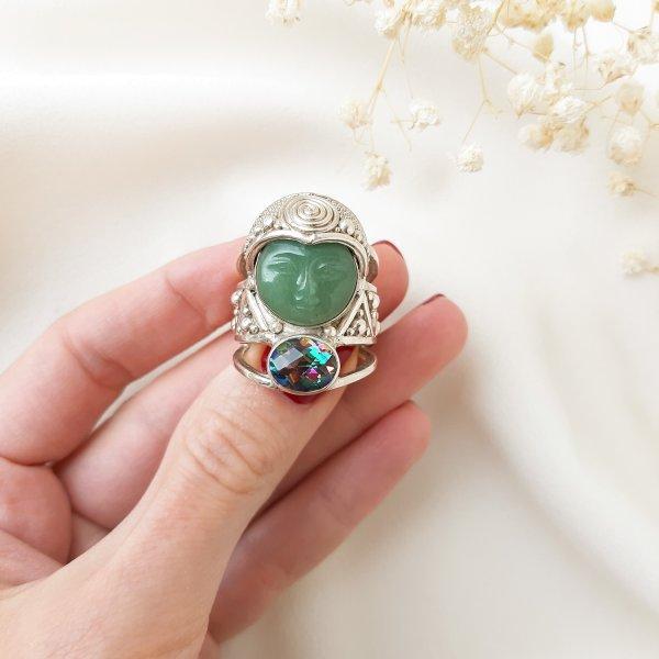 Серебряный перстень «Богиня природы» от Sajen Купить антиквариат