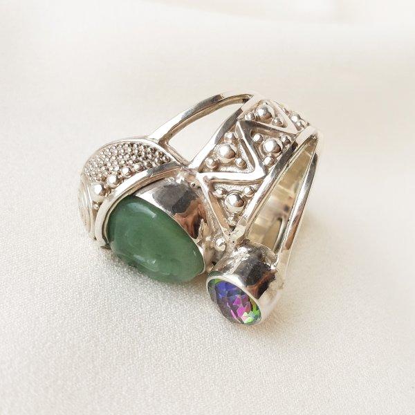 Серебряный перстень «Богиня природы» от Sajen Купить бижутерию