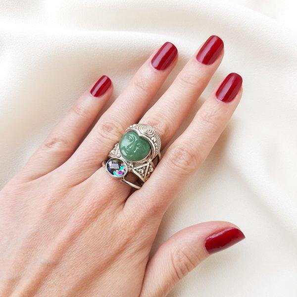 Серебряный перстень «Богиня природы» от Sajen Старинные украшения