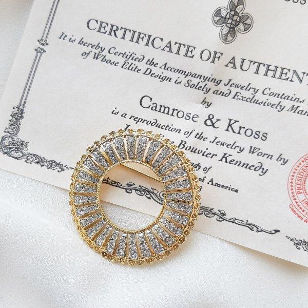 Брошь Жаклин Кеннеди от Camrose & Kross Старинные украшения