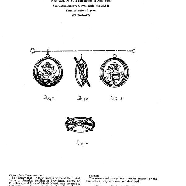 Винтажный чарм - браслет с ангелом «Июль» от Coro Купить бижутерию