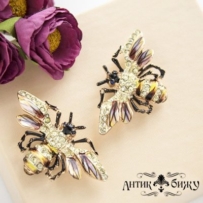 Коллекционные дресс-клипсы «Пчелы» Coro Duette