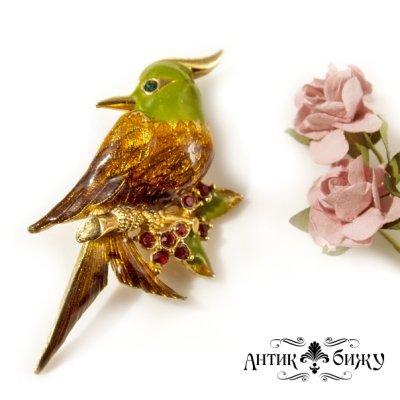 Винтажная брошь «Райская птичка» от D'Orlan