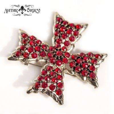 Винтажная брошь «Мальтийский крест» от Weiss