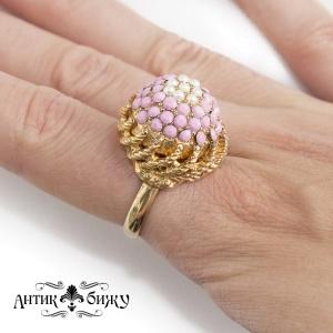 Винтажное коктейльное кольцо от Hollycraft