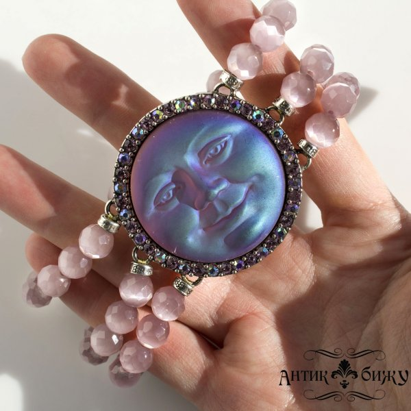 Редкий винтажный браслет «Луна» от Kirks Folly оригинальный и эксклюзивный подарок девушке