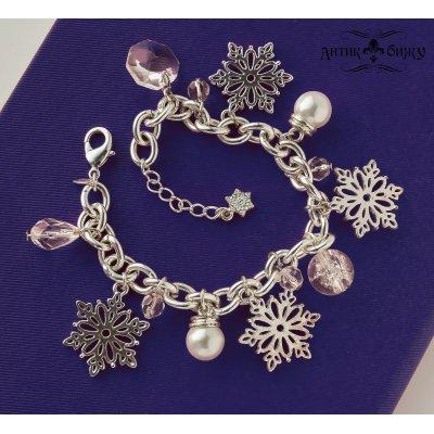 Винтажный чарм-браслет «Вальс снежинок» от Avon