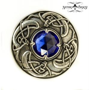 Винтажная брошь «Синий кристалл» от Miracle