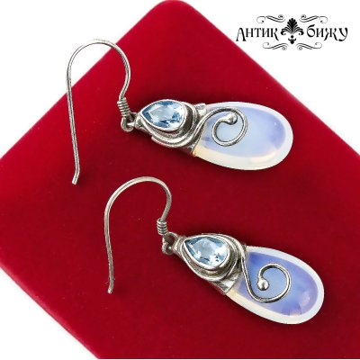 Винтажные серебряные серьги «Капли» от Sajen
