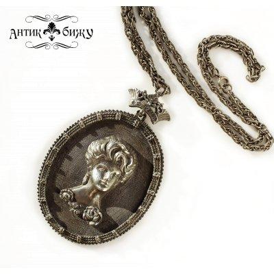 Винтажный массивный кулон на цепи «Эпоха Марии» от Florenza