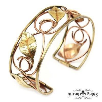 Антикварный cuff браслет «Флора» от Krementz